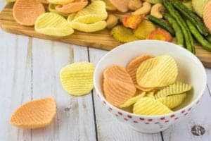 bowl of veggie chips
