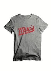 gray mac's pharmacy t shirt