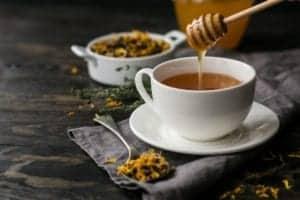 tea with honey in it